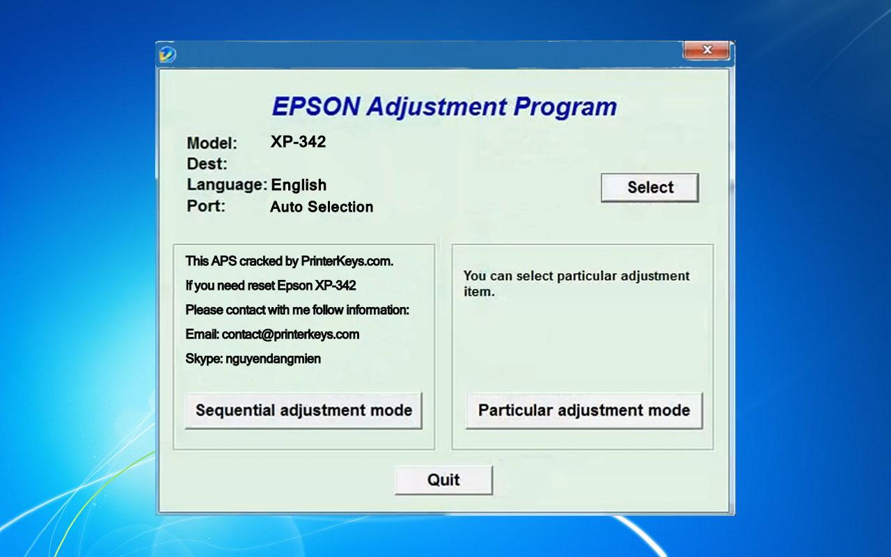Epson XP-342 Adjustment Program